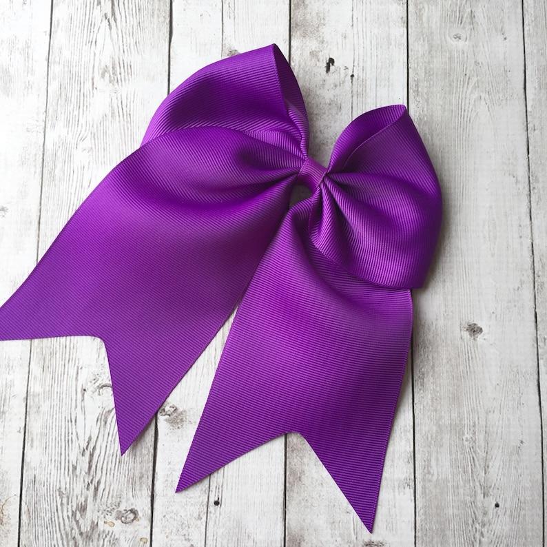 Toddler Hair Bow Big Bows for Girls Purple Cheer Hair Bow Cheer Hair Bow Clip Large Hair Bow Cheer Bows 5 inch Cheer Hair Bow