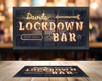 Personalised Bar Mat Custom Runner Gift Novelty Funny 151 Gin O/'Clock Cocktail