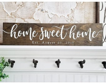 Wood name Sign Wedding Gift Cyber Monday 3D wood Sign housewarming gift Mothers day Gift Established Sign Home sweet home sign