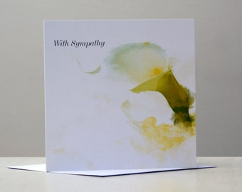 With Sympathy – The Lily, Sympathy Card, Thoughts Are With You Card, Friendship Card, Sorry For Your Loss Card, From the Heart