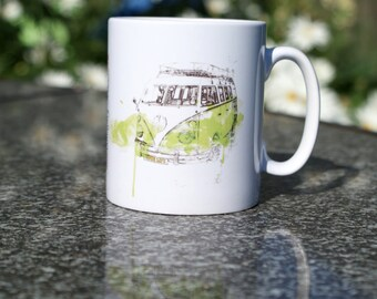 VW Mug - The Campers No. 1, VW Camper Van, Coffee Cup, Volkswagen Split Screen, Bay Window, Birthday Gift.