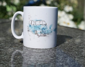 VW Mug - Beetle, VW Bug, Coffee Cup, Volkswagen, Great Fathers Day or Birthday Gift.