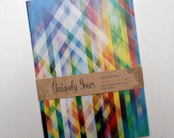 32 Page Notebook/Jotter A5, Colourful Stripe Design, ideal for writing or drawing