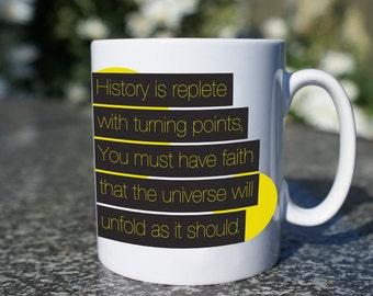 Star Trek Spock Inspired Mug, Great Fathers Day or Birthday Gift, Spock Coffee Mug, Spock Quote.