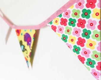 Cute girls bunting,  elephant party banner,  monkey bedroom garland,  owl nursery decor,  pink baby gift,  baby shower present, xmas idea