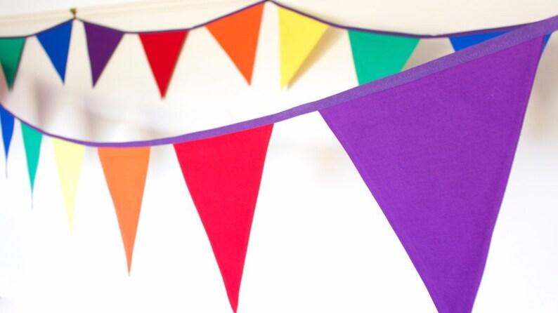 Rainbow Bunting gay pride fabric flags lgbt wedding decor image 0
