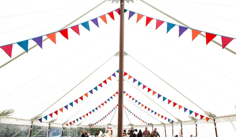 Bright colour bunting  festival decoration  alternative image 0