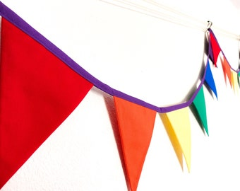 Rainbow Bunting, thank you NHS banner, pride garland, bright party decor, Nursery kids bedroom, garden room wall, lgbtq gift
