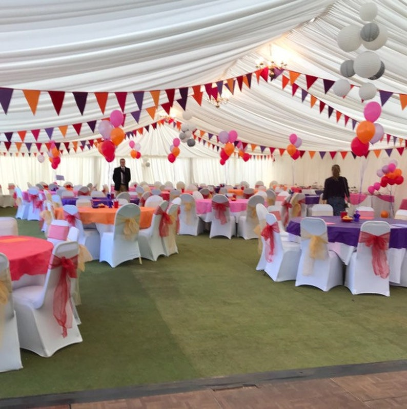 To hire funky & bright exotic bunting in pink orange image 0