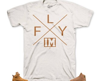 db61153d53c Jordan 6 Wheat Golden Harvest 13 I'm Fly Tee Shirt