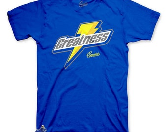5747d15a0cc Tee Shirt Match Jordan 5 Laney Varsity Royal - Greatness Tee