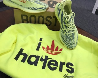 279275f0c Shirt Match Yeezy Frozen Yellow 350 Shoes - Stripe Haters Tee