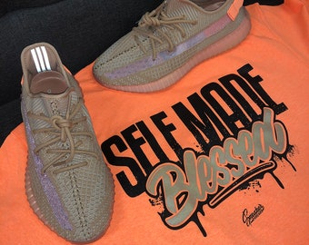 b14be85c98583 Shirt Match Yeezy Clay 350 Shoes - Self Made Tee