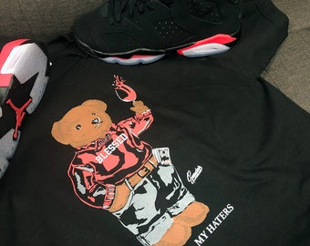 3aad775bc41 Tee Shirts Match Jordan 6 Infrared - Cheers Bear Shirt