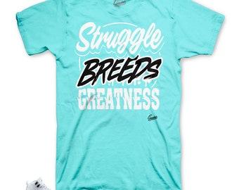 6cf2cce4d077 Jordan 12 Light Aqua Struggle Breeds Shirt