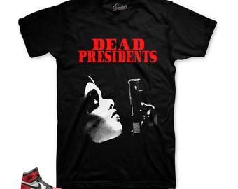 dc5b4e1a201 Jordan 1 Bred Toe Dead Pres Tee Shirt