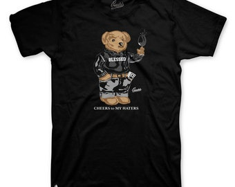 b50620c29bd2 Tee Shirt Match Jordan 13 atmosphere grey gray - Cheers Bear Tee
