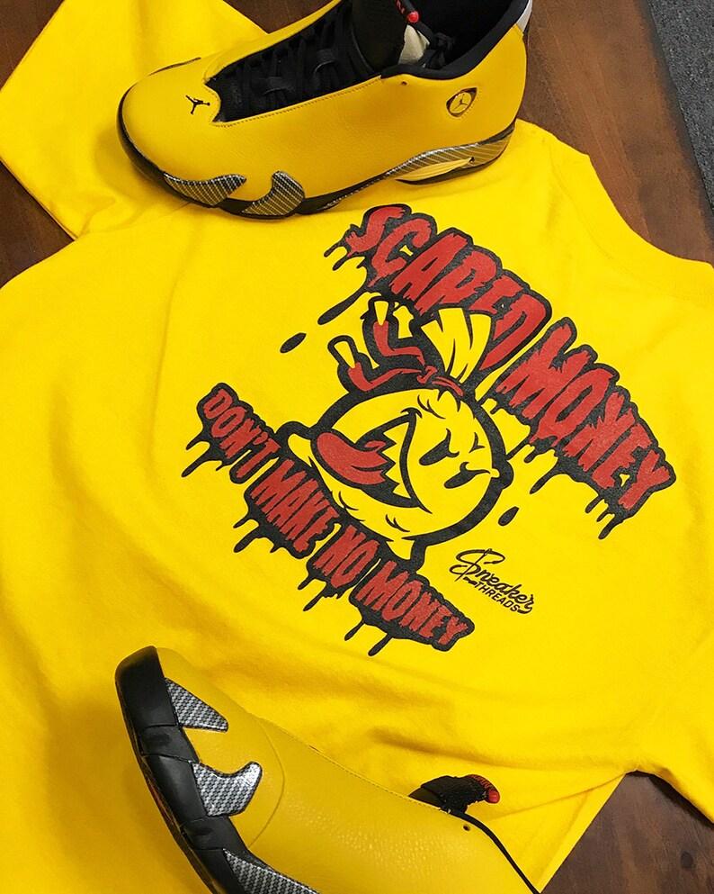 Shirt Match Jordan 14 Ferrari Sneakers Fast Money Gold Tee Sporting Goods Men