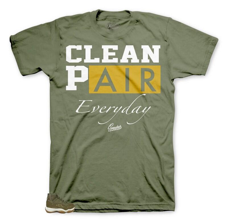 Everyday Tee Shirt Shirt Match Jordan 11 Olive Lux