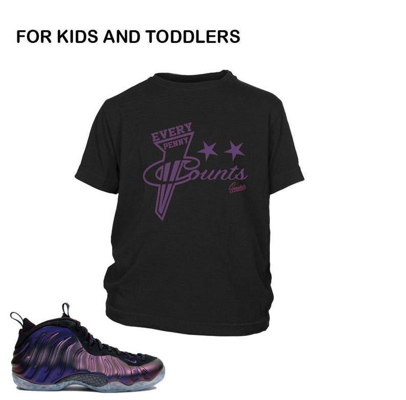 f5ab6d8a8c1 Kids Foamposite Eggplant Every Penny Shirt