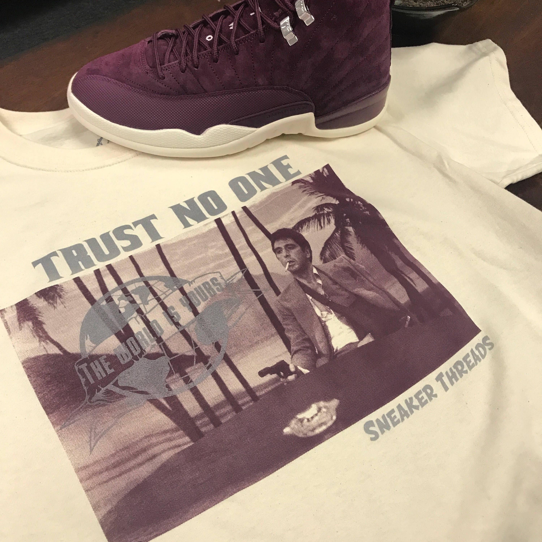 7e0a774eeb2b Jordan 12 Bordeaux Tony Knows Tee Shirt