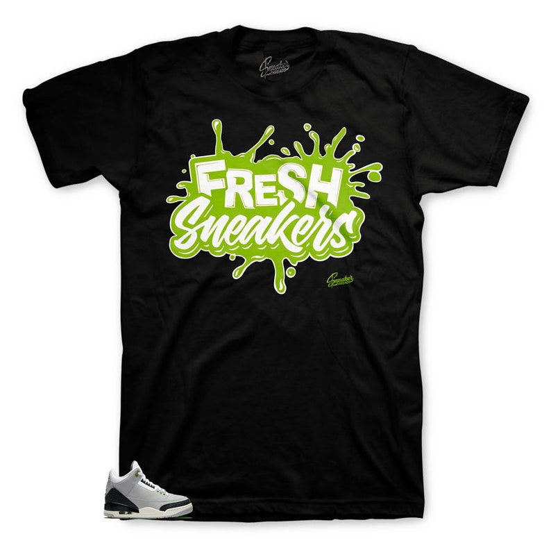 3bb0e3bef1b4d0 Jordan 3 Tinker Chlorophyll Fresh Sneakers Shirt