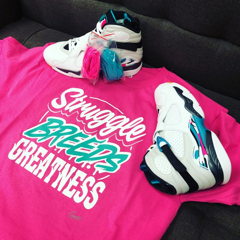 1b943eb190678f Jordan 8 South Beach Turbo Green Struggle Breeds Shirt
