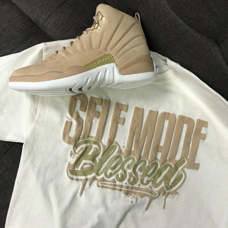 online store 9cf81 e0b84 Jordan 12 Vachetta Tan Self Made Sneaker Tees   Etsy