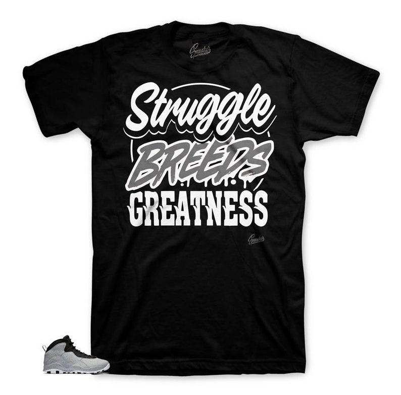 8b6616042ba48e Jordan 10 Cement Smoke Grey Struggle Breeds Shirt