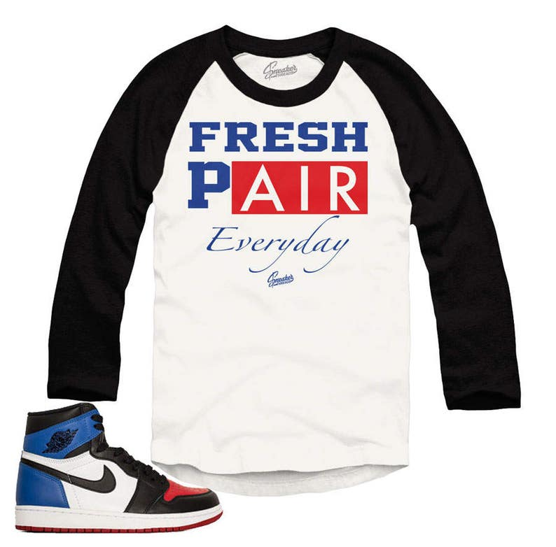e5af694eb686 Jordan 1 Top Three Everyday Raglan