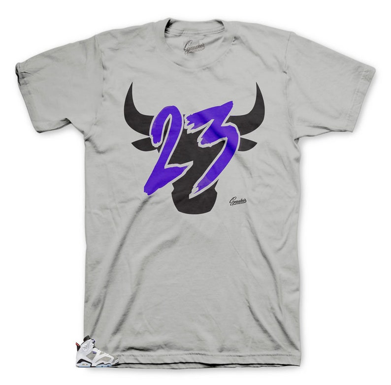 f8c20bb5c99008 Tee Shirts Match Jordan 6 Flint Grey Concord Toro Tee