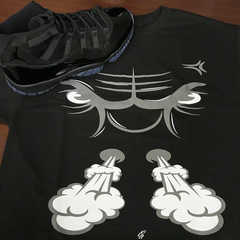5b10947ad41 Jordan 11 Cap & Gown Bullface Tee Shirt | Etsy