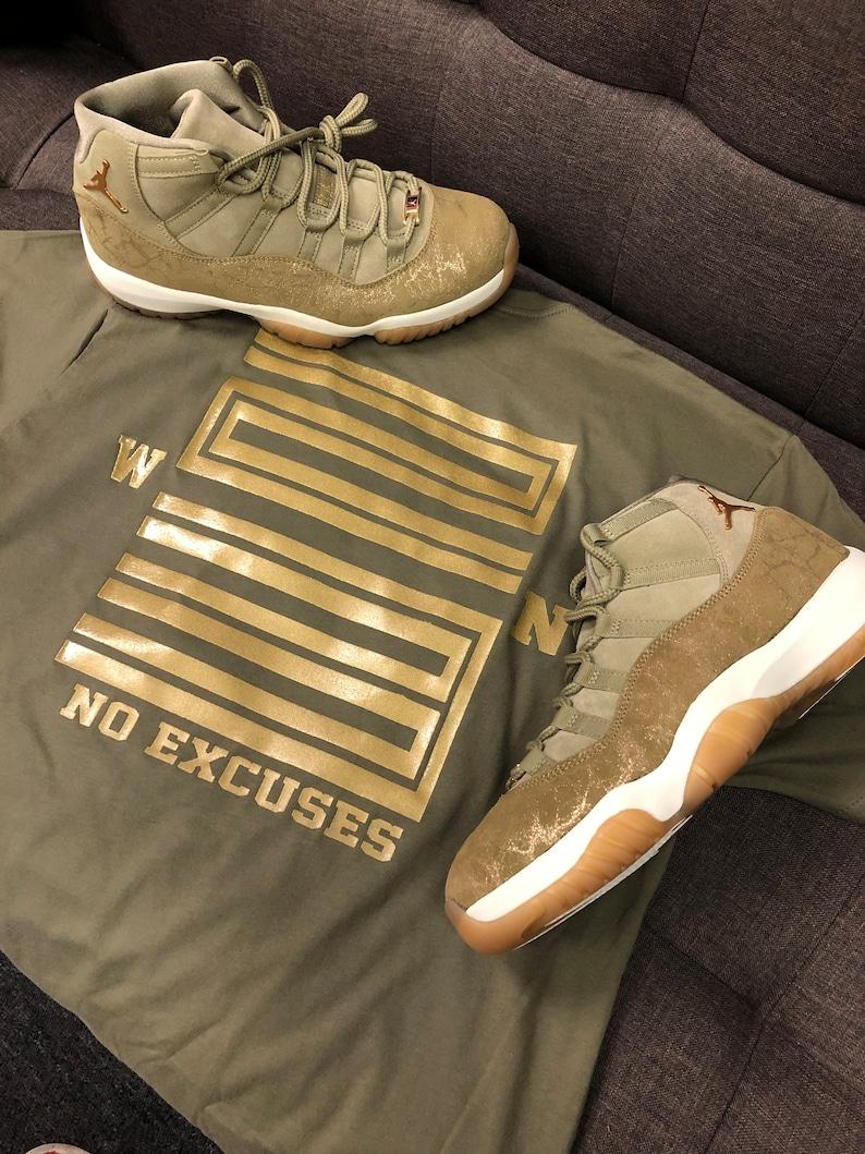 9d359b30a07d Shirt Match Jordan 11 Olive Lux WIN 23 Tee