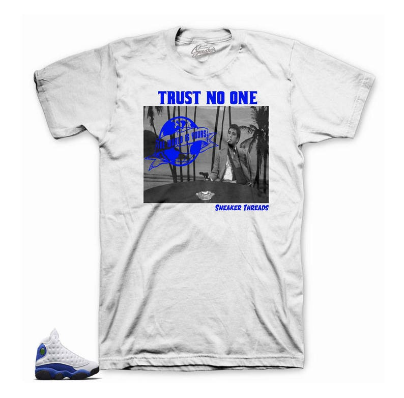 109d7e771a7f Jordan 13 Hyper Royal Tony Knows Tee Shirt