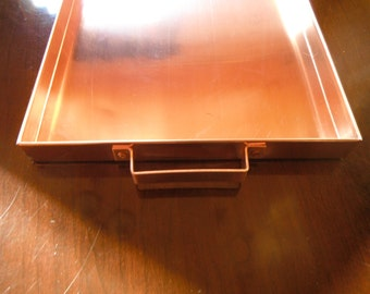 Solid Copper Tray With handles