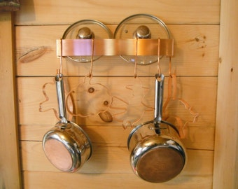 Wall Mounted Solid Copper Pot Rack