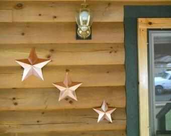 3 Solid Copper Stars