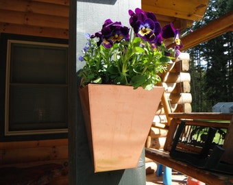 3 Pak - Solid Copper Wall Planters