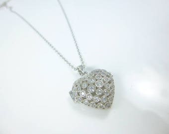 Sterling Silver Locket, Heart Locket Necklace, Heart Locket Pendant, Locket Necklace