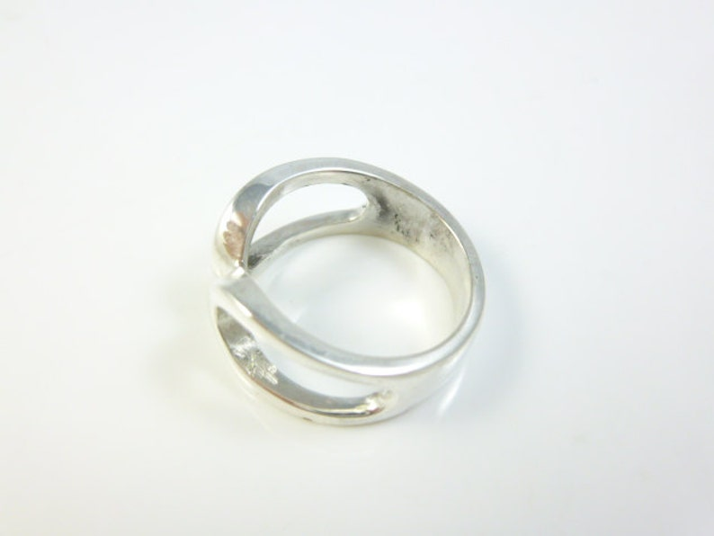 Abstract Ring Sterling Silver Ring