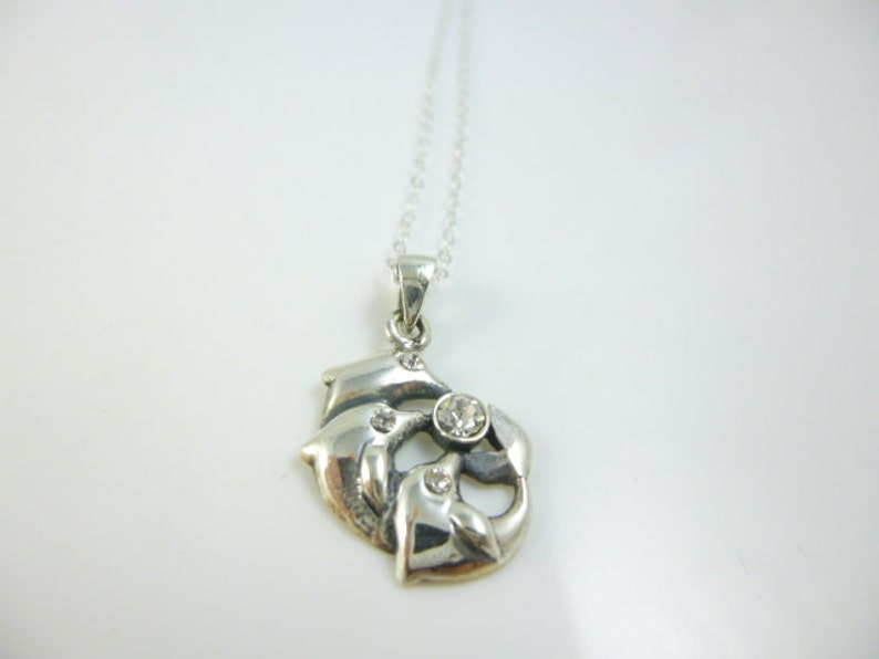 Nautical Jewelry Sterling Silver Dolphin Pendant Dolphin Necklace Dolphin Jewelry