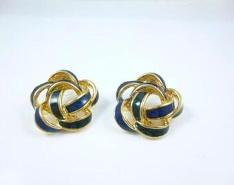 Black and Gold Earrings, Large Round Earrings, Retro Earrings, Vintage new