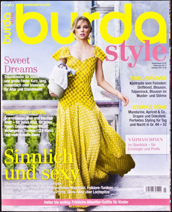 Burda Magazine 32014 March German Sewing Patterns Bridal Etsy