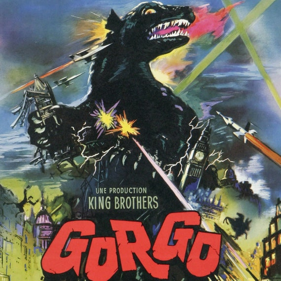 GORGO Authentic Vintage Movie Poster NEAR MINT 196