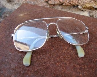 20e9945f05 German Aviator Eyeglasses. Quality vintage classic metal frames. Large old  fashioned mens retro eyewear