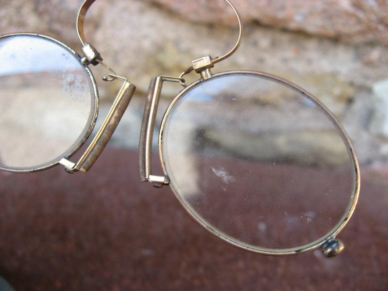 22c1311677a French Pince Nez with original case. Dapper Dan antique nose