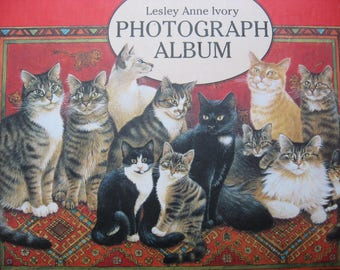 Cat Lover Photo Album by Lesley Anne Ivory. Kitten artwork, quality decorative photograph frames. Lovely memory gift or scrapbook project