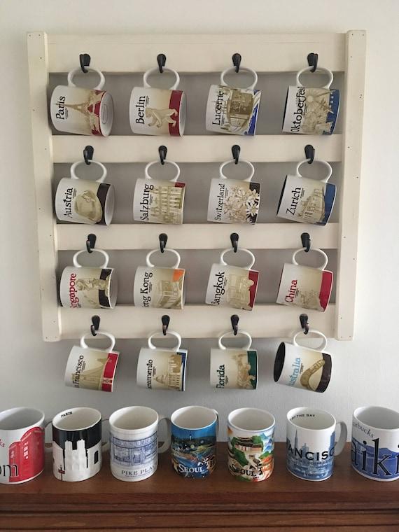 Coffee Cup Holder   Kitchen Storage   Mug Rack  Cup Holder   Kitchen Wall  Decor   Coffee Cups   Coffee Mug Holder   Coffee Cup Rack