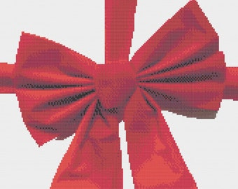 Wrapped with a Red Bow Cross Stitch Pattern