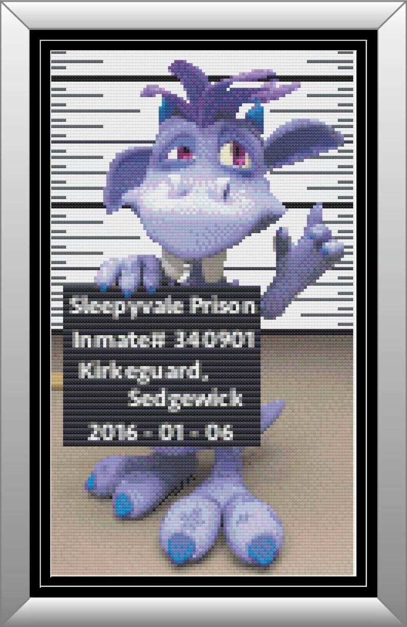 Closet Monster CAPTURED Purple Monster in Jail Violet image 1